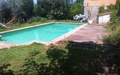 Terraza en piscina